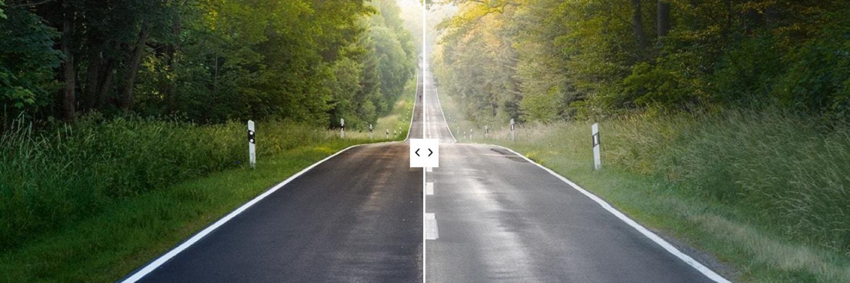 road-glazen